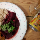 Beetroot and coconut curry
